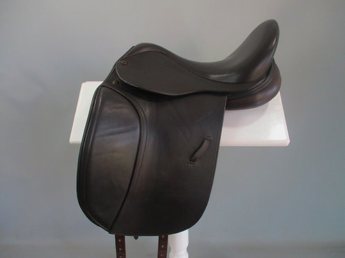 "Harry Dabbs Elegant XF Dressage Saddle 16.5"" XW Brown"