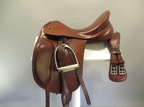 """Prestige Lucky Pony Dressage Saddle 16"""" W  with mounts"""