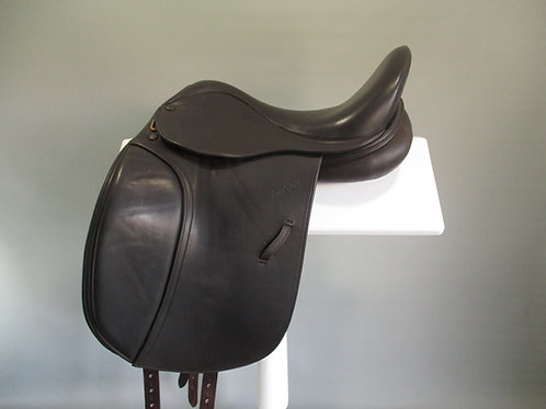 "Harry Dabbs Elegant XF Dressage Saddle 16.5"" XW BROWN"