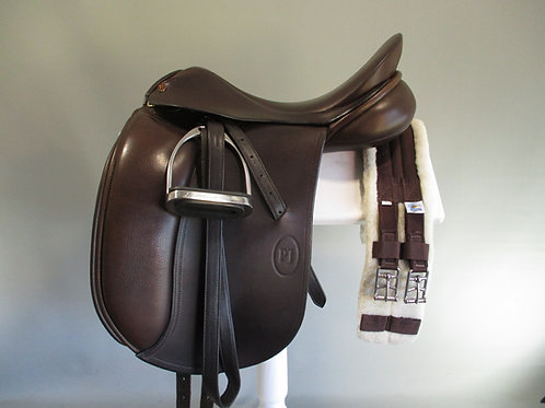 "Paul Jones Dressage Saddle 16.5""  BROWN MW"
