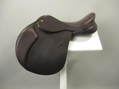 "Black Country Ricochet Jump Saddle 17"" W-XW"