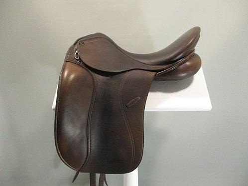 "PDS Euro Dressage Saddle 17.5"" Corto Panel"