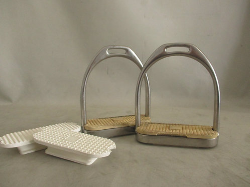 "Stirrup Irons 4.25"" with set of new treads"