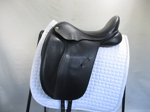 """Black Country Eloquence Dressage Saddle 17"""" MW"""