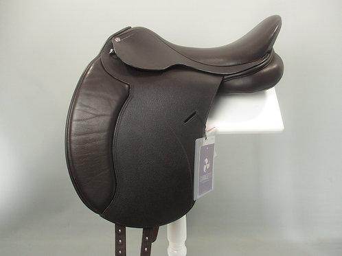 "Cavaletti Dressage Saddle 17.5"" BROWN"