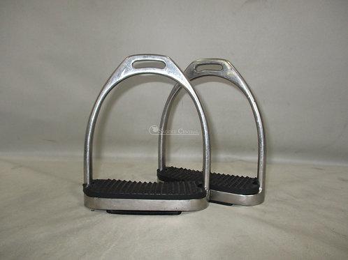 "Fillis Stirrup Irons  with new Black Treads 4.75"""