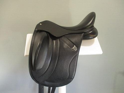 """Bates Innova Mono + Dressage Saddle 16.5""""- 17"""" (size 0)"""