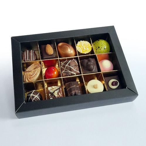 Bonbons in Luxe doos met kijkvenster - 15 stuks