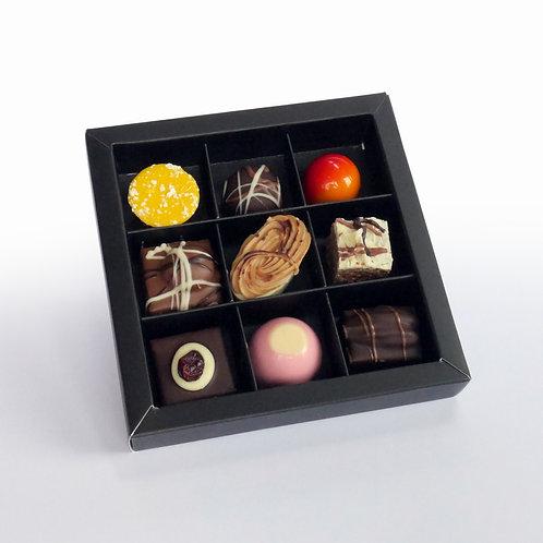 Bonbons in Luxe doos met kijkvenster - 9 stuks