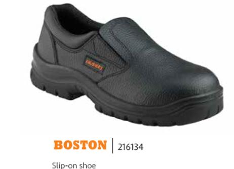 KRUSHERS BOSTON BLACK SLIP-ON SHOE