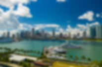 Aerial scenic image Downtown Miami and I