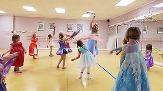 Princesses Dancing at The Dance Centre's Fairytale Festival