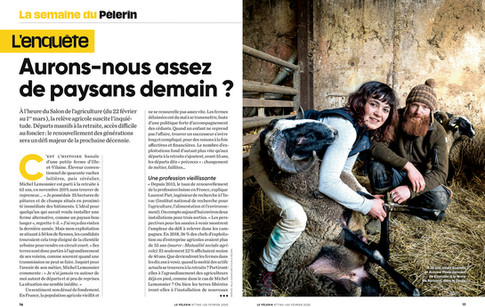 Commande pour la magazine Pélerin