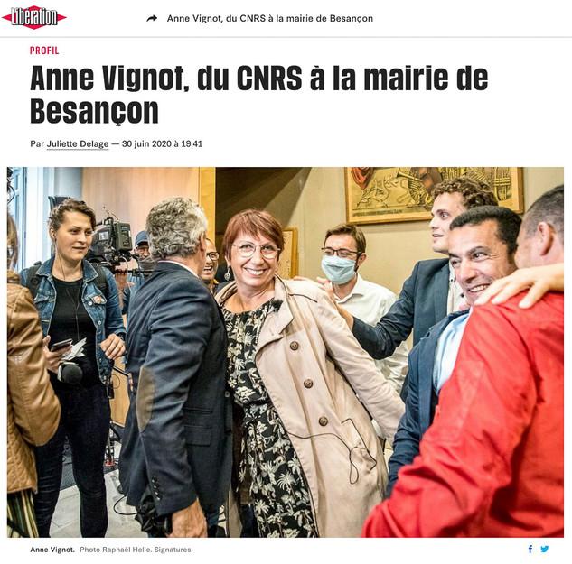 Parution dans Libération, print et web