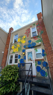 Mural at residence in Brookland, DC - depicting edibles once grown in DC in the early 1900s