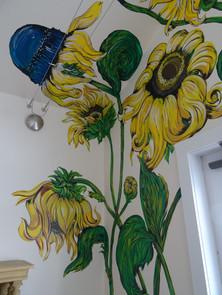 Details of the sunflowers + black-eyed susans