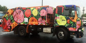 'Colors in the Night' - wrapped on a recycle truck
