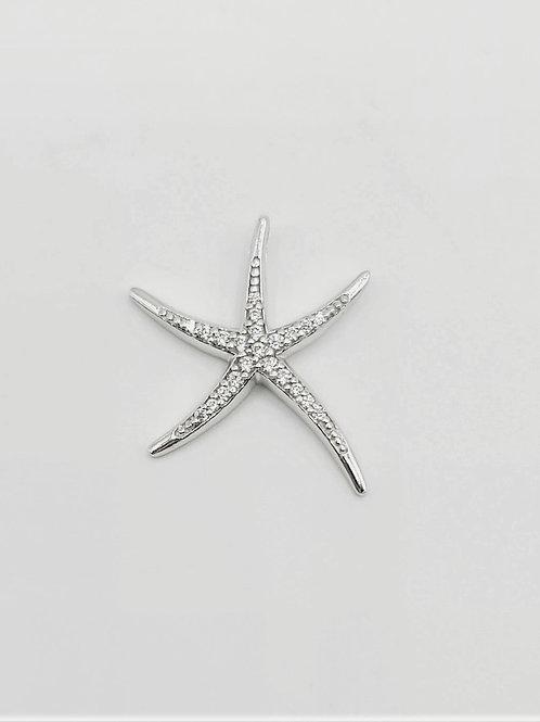 CZ Starfish Pendant