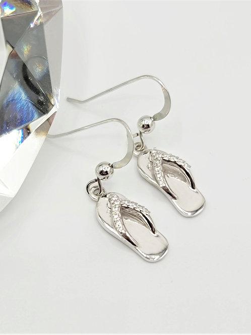CZ Flip Flop Earrings
