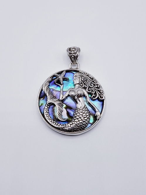 Abalone Mermaid Pendant