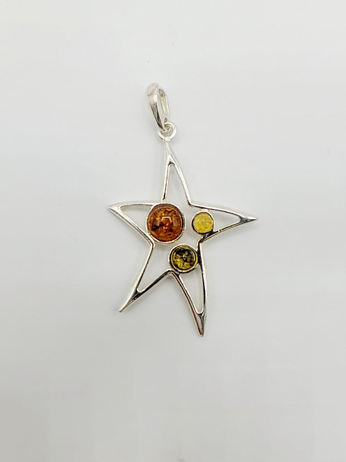 Amber Star(fish) Pendant