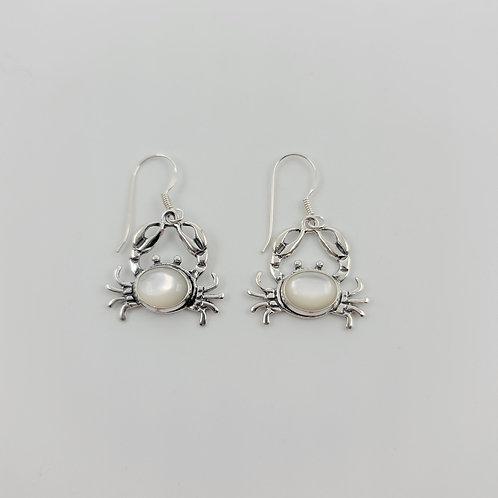 MOP Crab Earrings