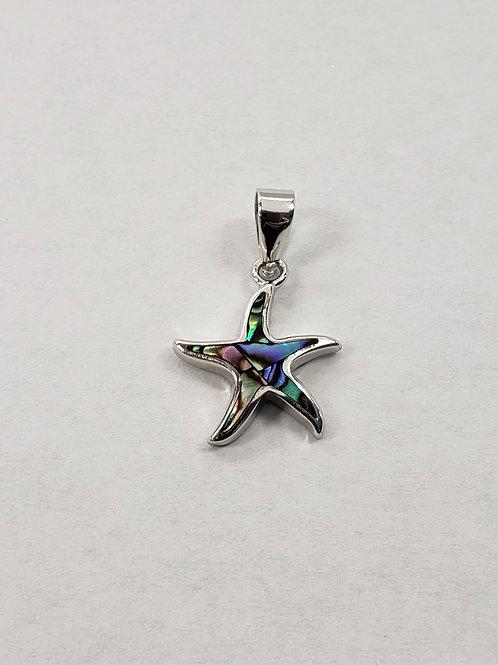Abalone Shell Starfish Pendant