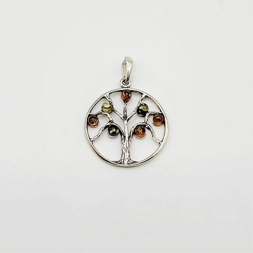 Amber Tree of Life Pendant