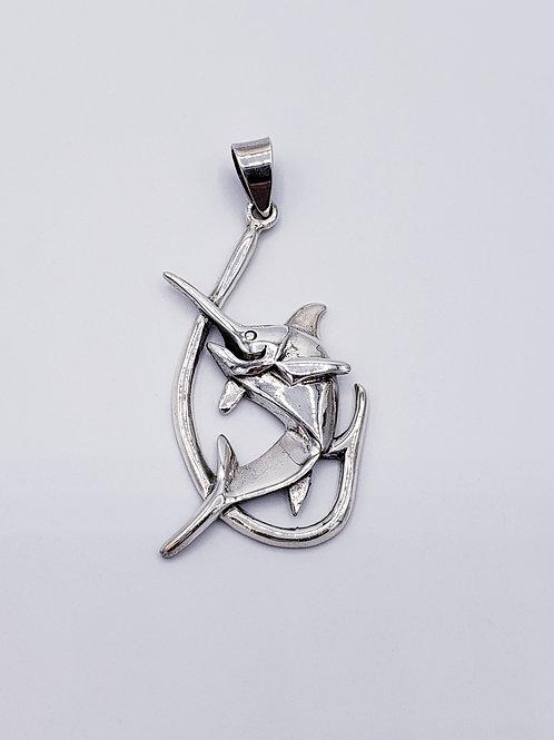 Hook & Marlin Pendant