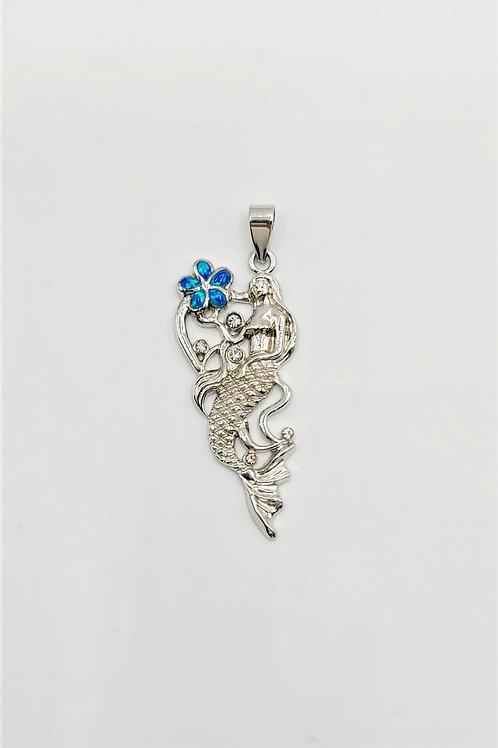 Lab-created Mermaid Pendant