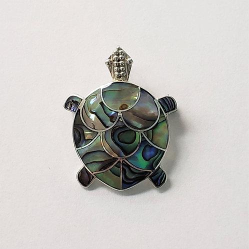 Abalone Turtle Pendant/Pin