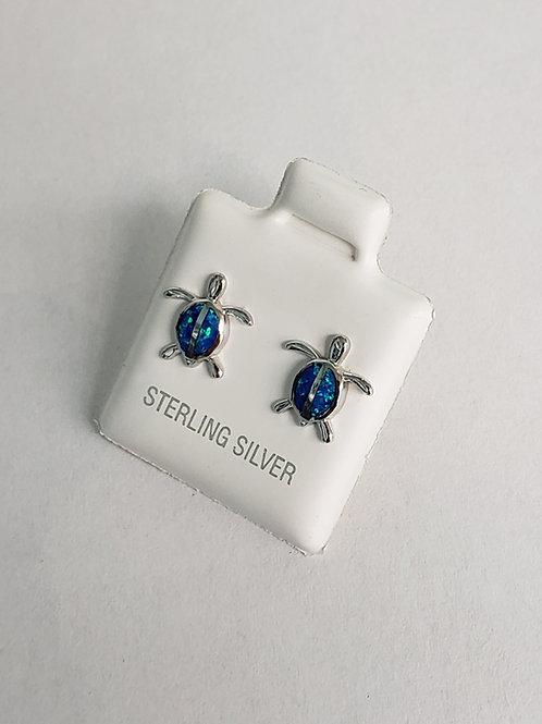 Lab-created Opal Turtle Earrings