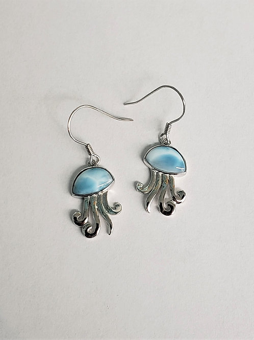 Larimar Jellyfish Earrings