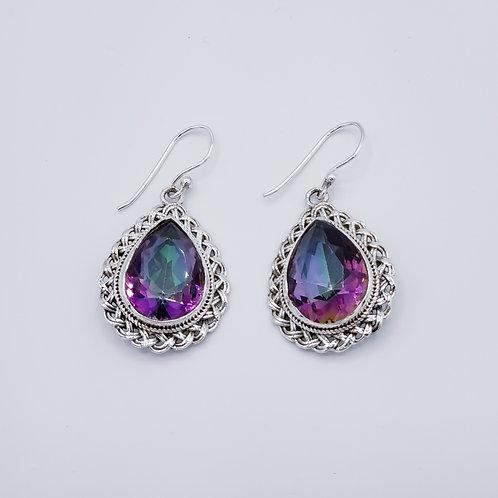 Mystic Fire Topaz Earrings