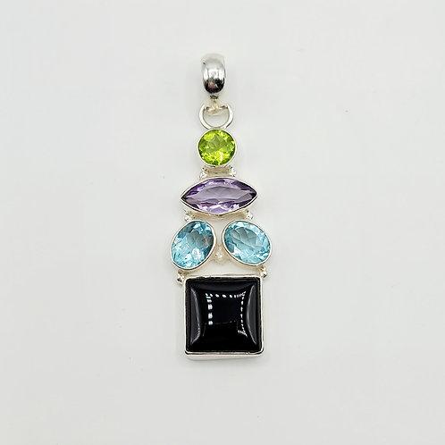 Multi-Gemstone Pendant