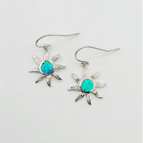 Lab-created Opal Sun Earrings