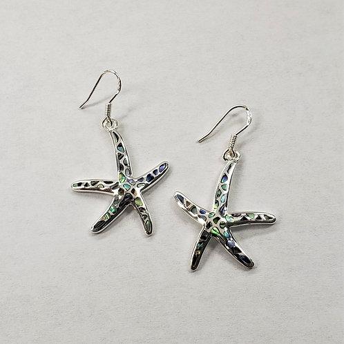 Abalone Shell Starfish Earrings