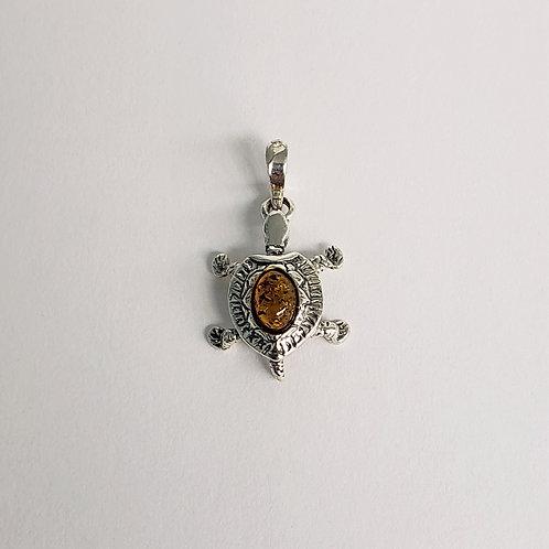 Amber Turtle Pendant