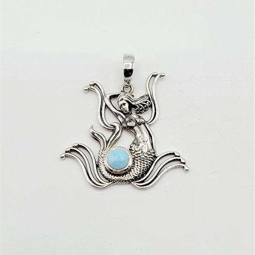 Larimar Mermaid Pendant