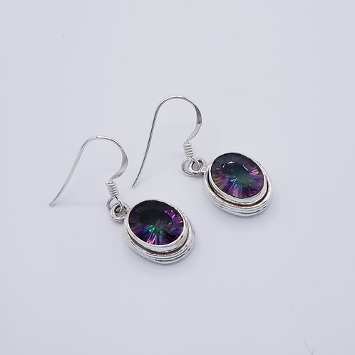 Mystic Fire Topaz Earrings