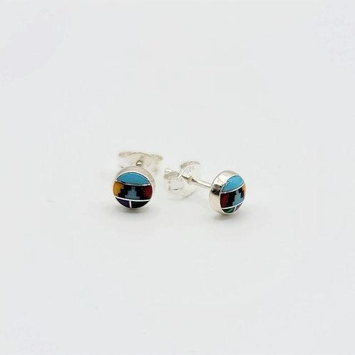 Multi-Stone Stud Earrings