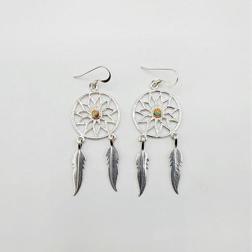 Spiny Oyster Shell Dreamcatcher Earrings