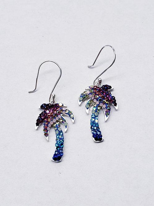Crystal Palm Tree Earrings