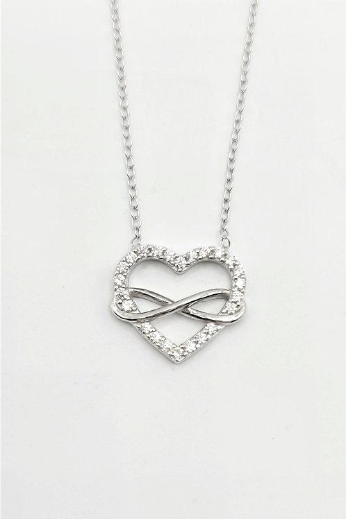CZ Infinity Heart Necklace