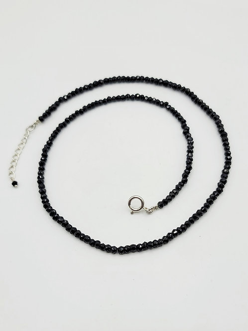 Black Spinel Bead Necklace