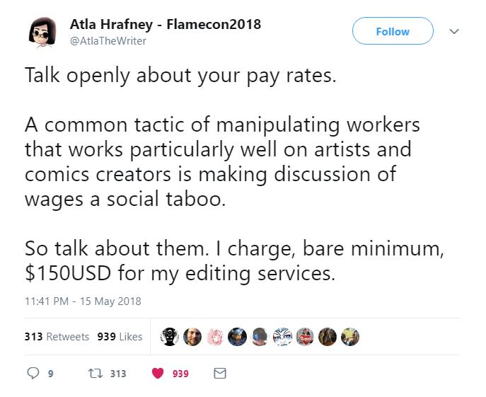 Tweet by @AtlaTheWriter