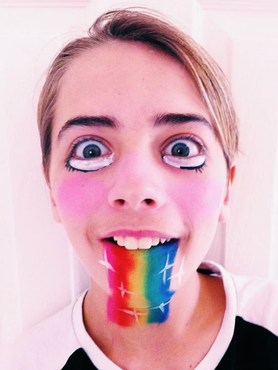 Snapchat rainbow filter face paint design.jpg.jpg.jpg This is a rare photo as he doesn't like me pra