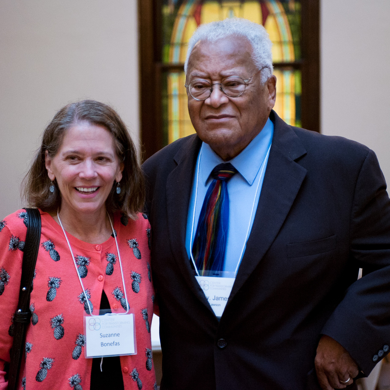 Suzanne Bonefas and James Lawson