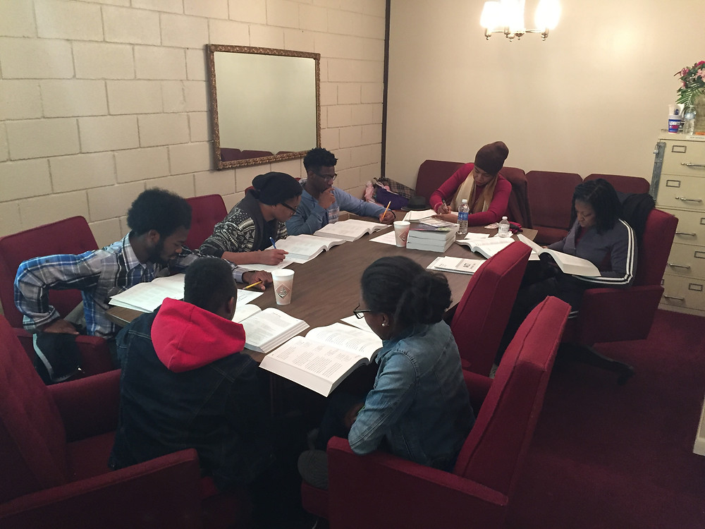 Students practice for the ACT in South Memphis
