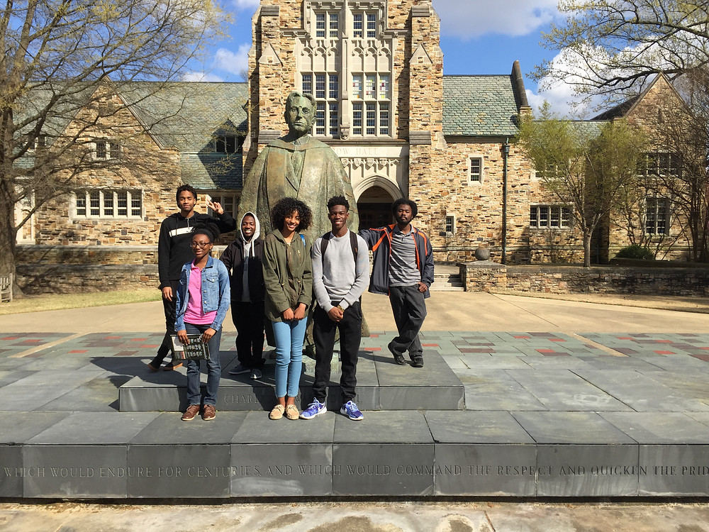 Students from the SMSZ ACT Prep and College Readiness program visit Rhodes College